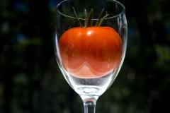 Tomato in Wine Glass